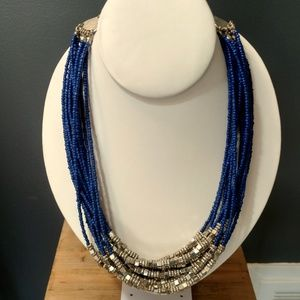 Chico's blue and silver necklace